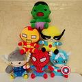 18cm plush stuffed toys Marvel The Avengers Movie American Iron Man Captain America Spider Man Hulk