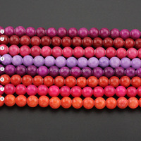 YJ1125 4mm,6mm,8mm,10mm,12mm Beads Supplies,colorful dyed jade stone Round beads