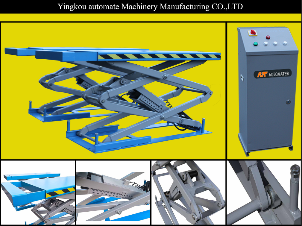 MT in ground scissor car lift hydraulic cylinder lifts with CE