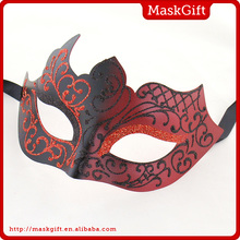 Good quality decorative red plastic masquerade mask for sale