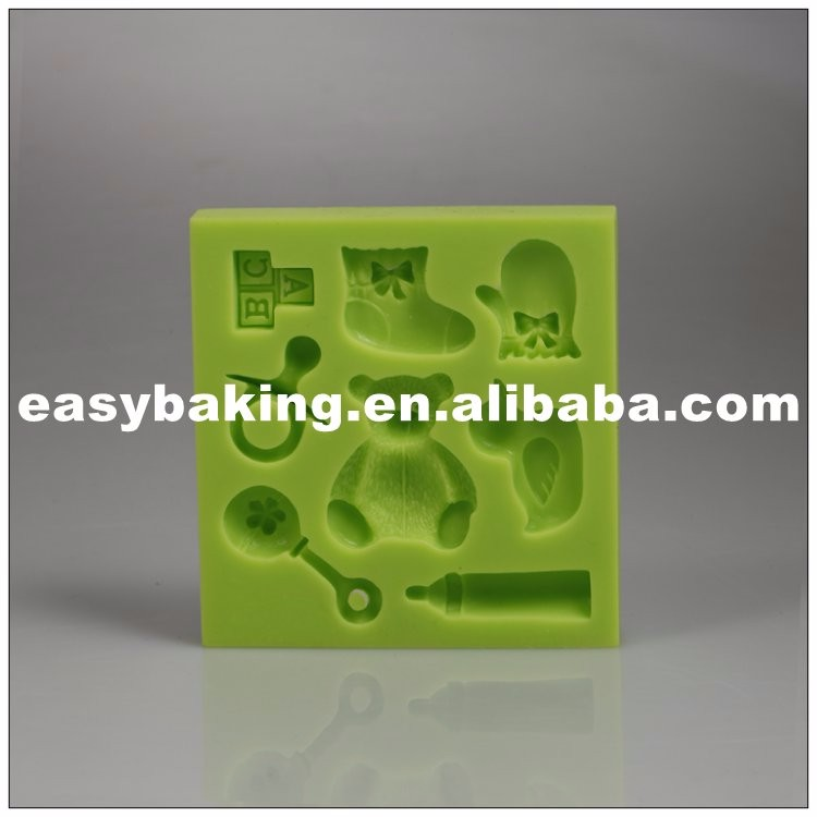 es-8417_Teddy Baby Sock Gloves Duck Bottle Cake Decorating Baby Series Silicone Fondant Mould_9655.jpg