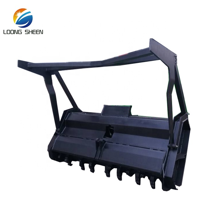 Skid steer loader ป่า mulcher