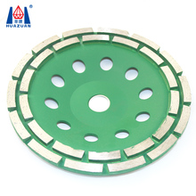 Diamond Tools Double Row Abrasive Cup Grinding Wheel for Stone