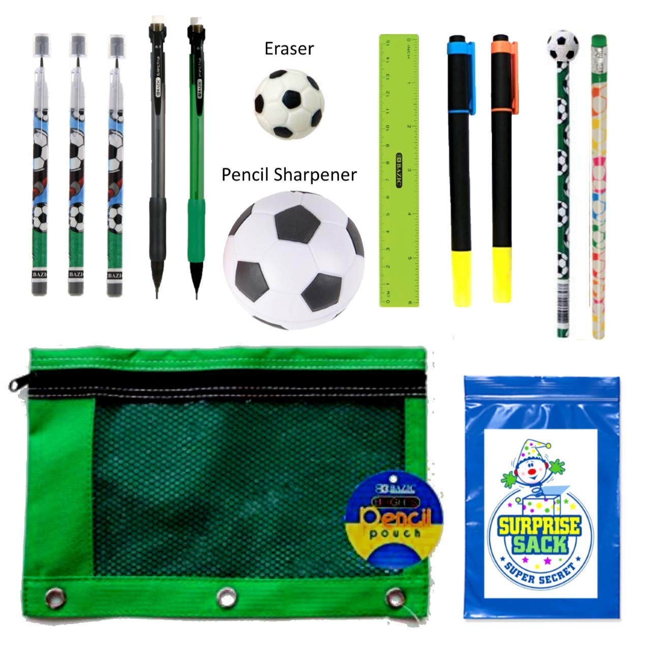 0d85dab0ff6d Kids Sports Themed Stationary Accessories-Sports Pencils