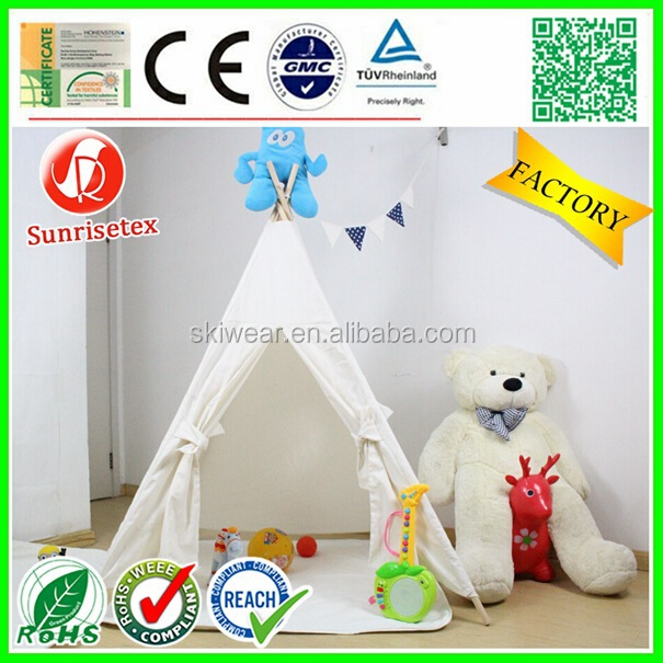100 cotton canvas teepee tents for kids with natural wood poles