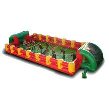 Crazy inflatable human foosball, inflatable commercial grade football playground B6077