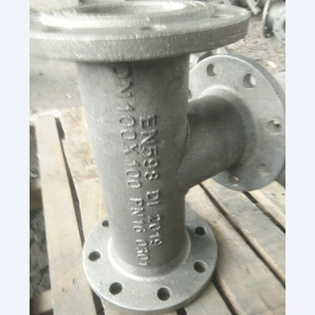 flanged spigot tees with flanged branch