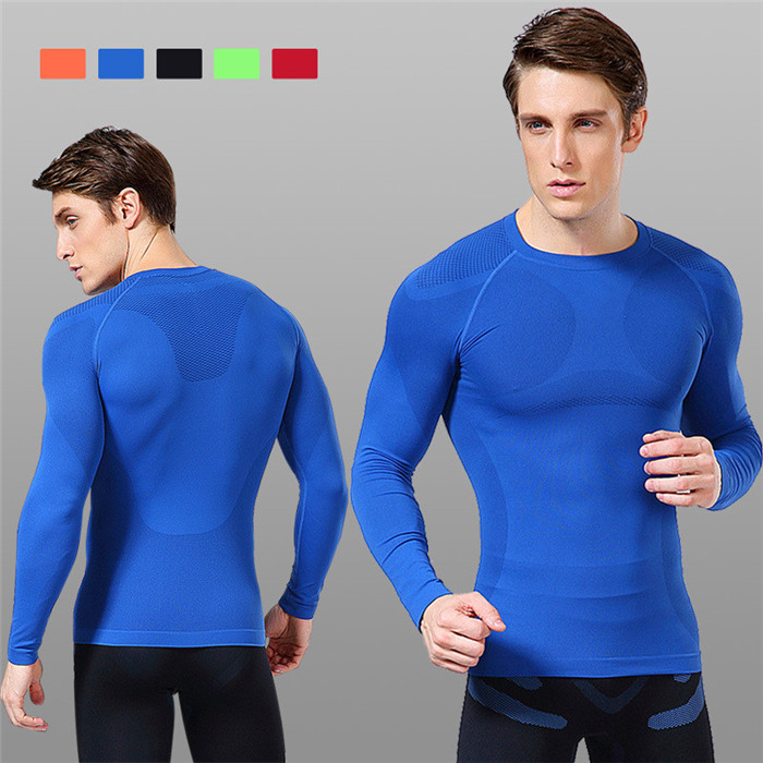 Men Compression O-Neck Long Sleeve <strong>Sports</strong> Tight T Shirts Fast Drying Fitness GYM Base Layer Tops M-XXL
