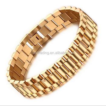 Men S Bracelet Gold Designs Chunky Chain Bracelets Bangles Stainless Steel Male Jewelry Gift