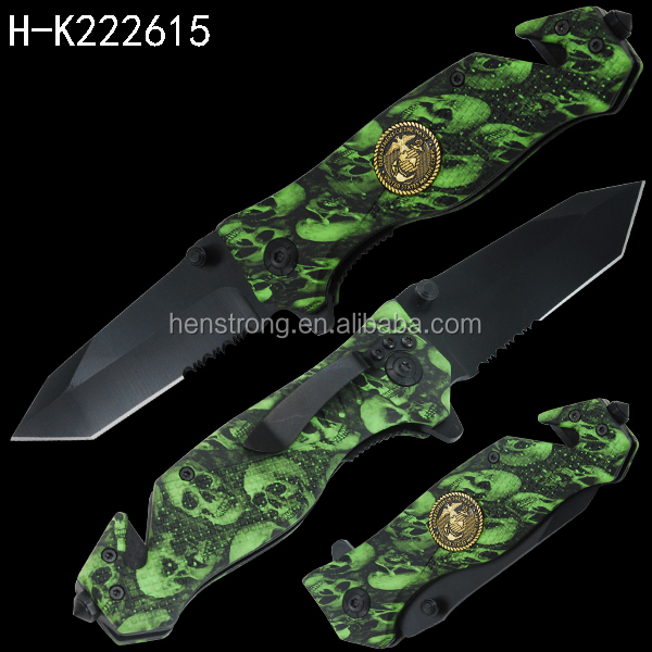Coating Camping Used Best Survival glass breaker Camo folding knives wholesale lots