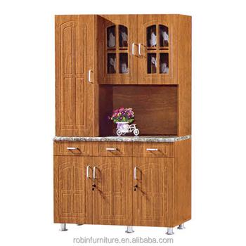 Kitchen Furniture Cheap Mdf 3 Door Kitchen Cupboard White Black