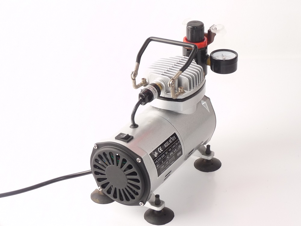 AS18K-2 Airbrush Model Paint Set With Compressor For Hobby