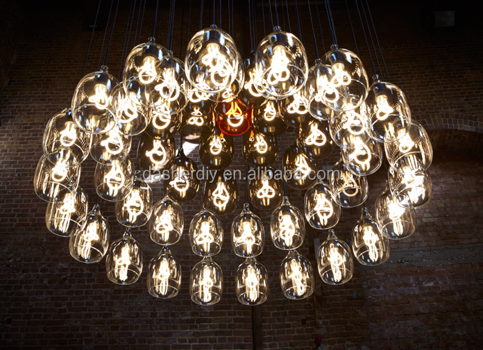 Loft Iron Pendant lights Vintage Industrial Lighting Lamp Square A rectangle Martial arts Chandelier
