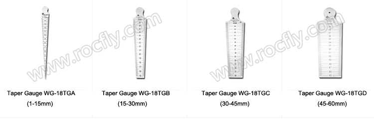 Welding taper Gauge 30-45mm Welding Inspect  Both inch and Metric