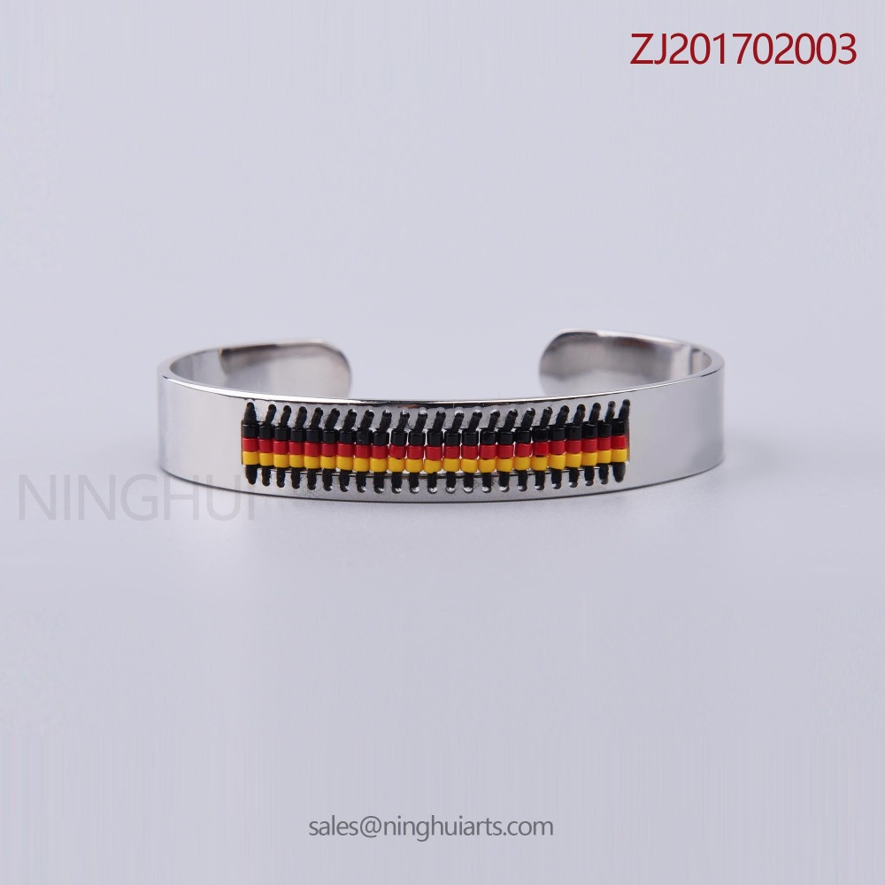 News 2017 jewelry stainless steel seadbeeds bracelet