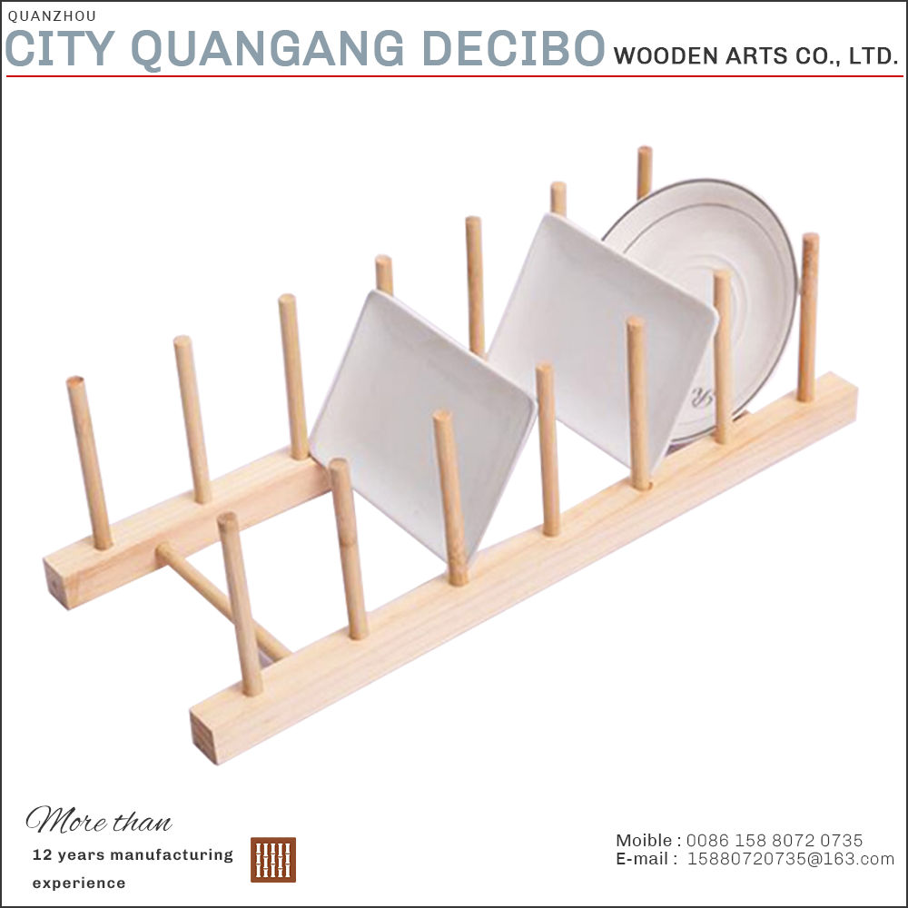 2017 kitchen use detachable wooden bamboo dish drying rack prices