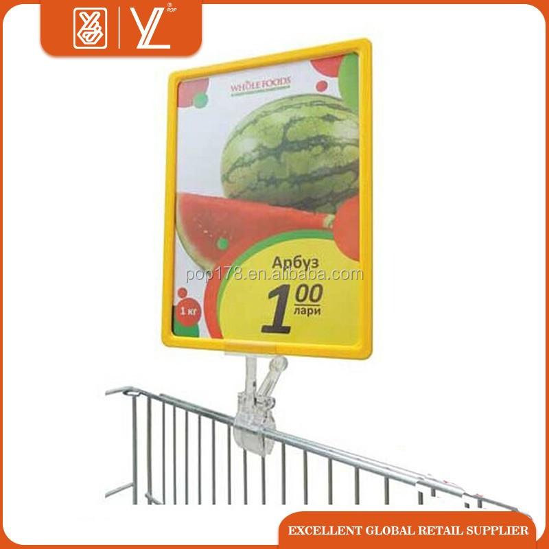Supermercado pop plástico Snap pantalla marcos del cartel-Otros ...