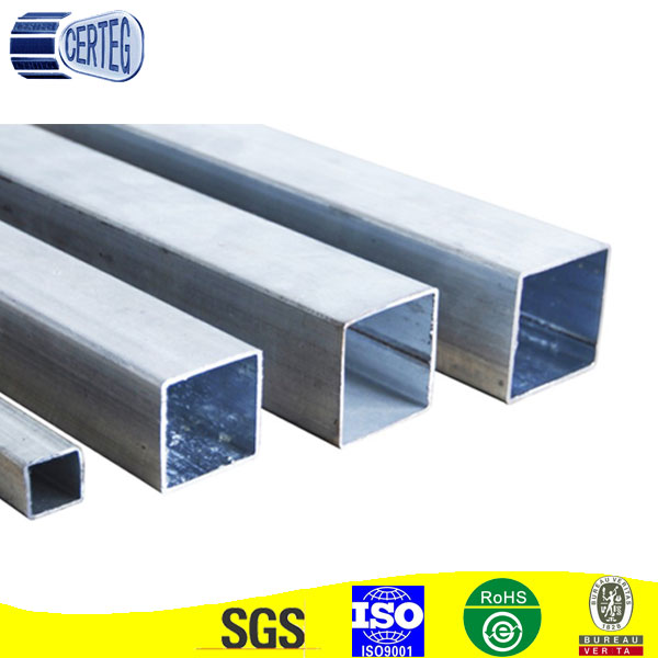60x60mm tubo de hierro galvanizado tuber as cuadradas de for Tubos de hierro rectangulares
