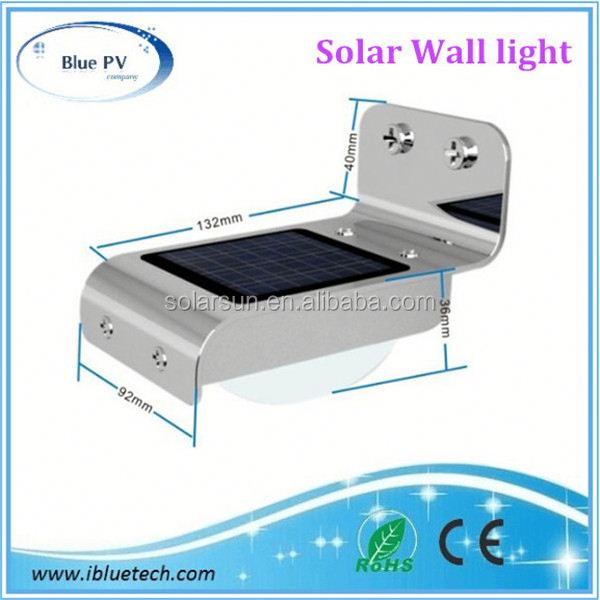 2012 new solar wall lights great quality fade-proof material