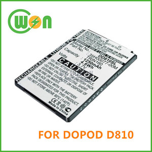 PDA D810 Battery for DOPOD D810 battery for CHT9100,9100 HTC P3600, P4000,P6300 battery