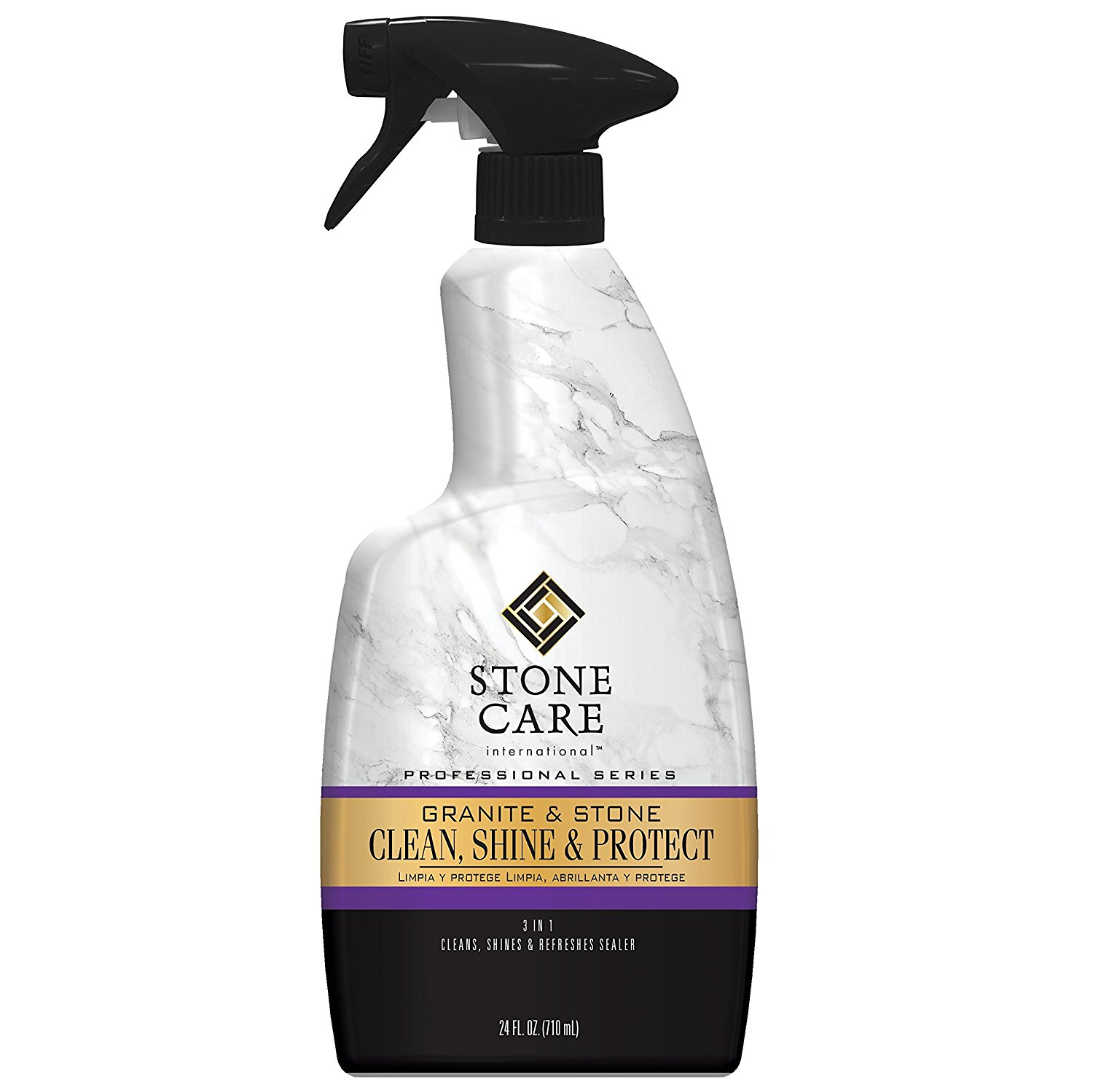 Stone Care International Granite & Stone Clean, Shine & Protect Spray - Cleans and Polishes Stone Surfaces - 24 fl oz