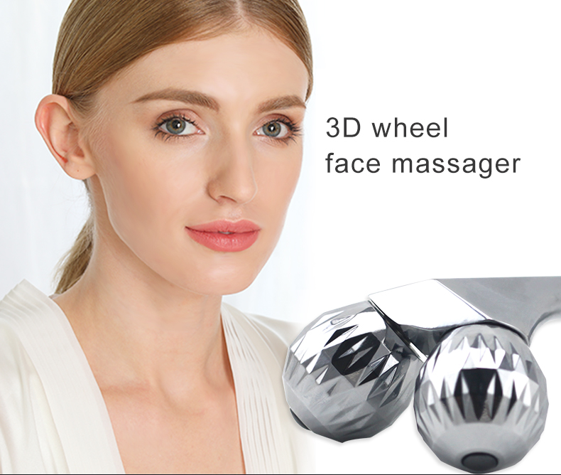 2 Wheel Shaped Face Lifting Artifact T Shape Arm Eye Nose Head Massager