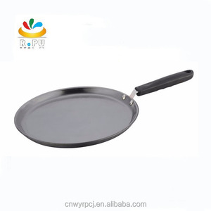 2017 High quality 26cm cast iron steel tawa pizza pan