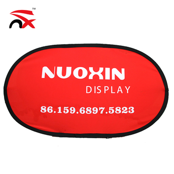 Frame Oval Pop Up Fabric Banner
