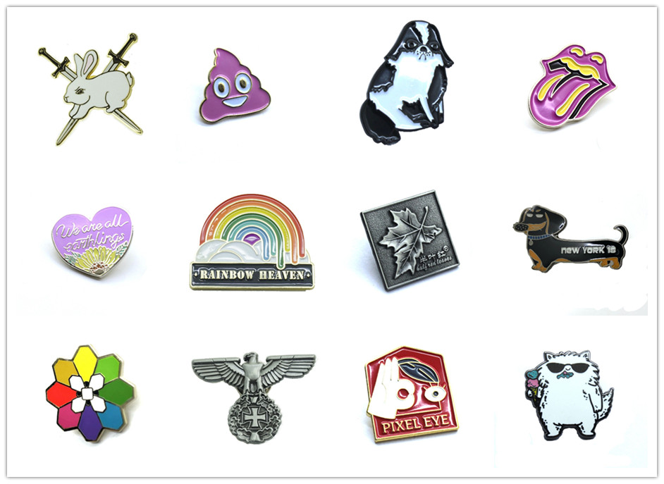 Good quality custom imitation hard enamel metal lapel pin