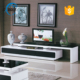 High quality cheap black & white high glass tv stand