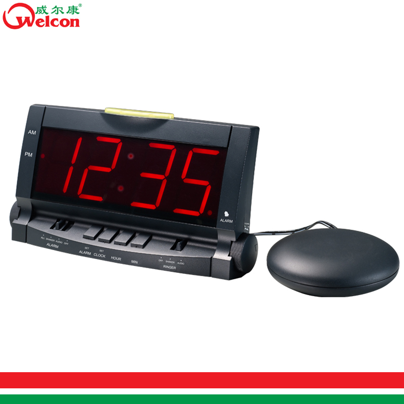 Vibrating Alarm Clock with Bed Shaker/Big LED Alarm Clock XWZ-901