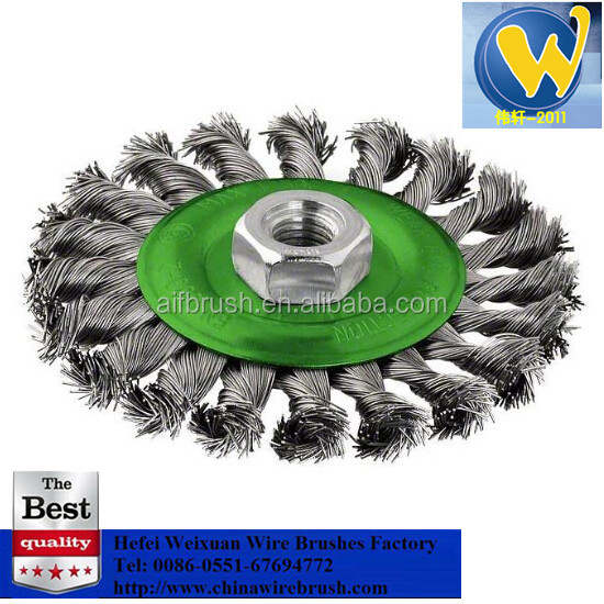 4.5 inch Angle Grinder Twist Knot Wire Wheel Brush for weld cleaning