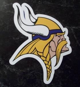 Minnesota Vikings Team Logo NFL Car Magnet