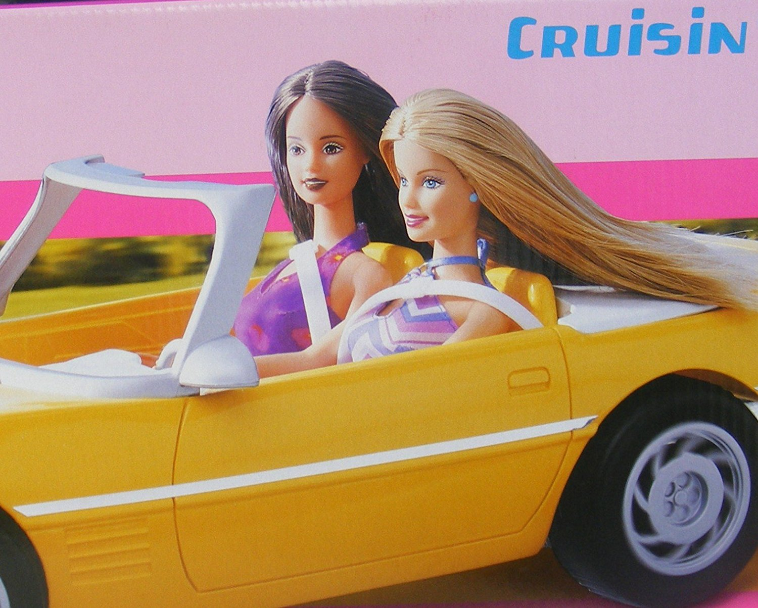 Barbie Car Rare Yellow Cruisin Corvette Vehicle (2001)