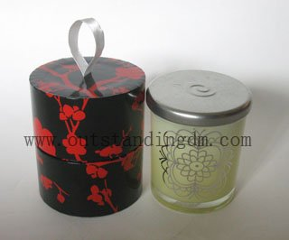 Luxury Candle With Glass Candle Container And Scented Wax For Cordless Candle Warmer