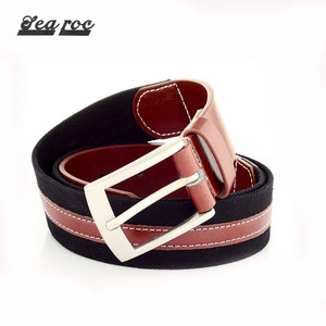 Hot sale high quality mens fabric pu pure real leather belts for men