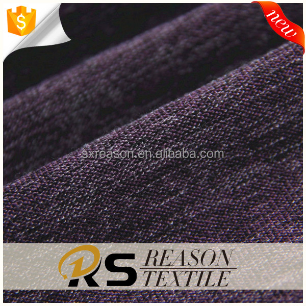 popular autumn women fabric polyester rayon fleece brushed knit fabric
