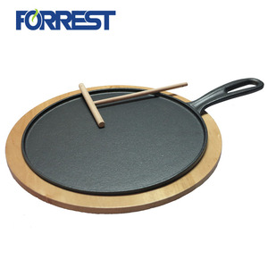 10.5 Inch Cast Iron Griddle Pre-seasoned Round Cast Iron Pan Perfect for Pancakes, Pizzas, and Quesadillas