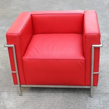 Replica Italian Leather One Seat Living Room Le Corbusier LC3 Sofa