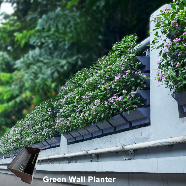 Stackable Flower Pot Vertical Growing System Self Watering Green