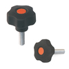 Five-Star Plastic Knobs Screws