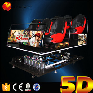 5D Chair 6Dof Motion Platform With Virtual Reality 5D Cinema Theater