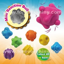 Bulk Fun Kid Small Gashapon Toys Gobstopper Speelgoed Mini Plastic TPE Random Bounce Bouncing Reaction Ball with Capsule