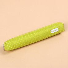 Милый конфетный цветной чехол-карандаш Kawaii Dot Canvas Pen Bag, Канцелярский мешочек для девочек, подарок, офисные школьные принадлежности(Китай)
