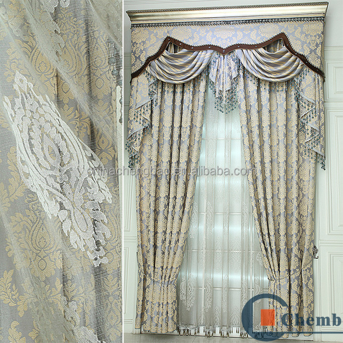 Luxury Economic Polyester Hotel Blackout Window Curtain