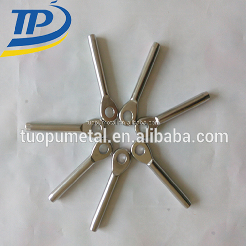 China supply stainless steel eye swage terminal for wire rope Marine eye bolt