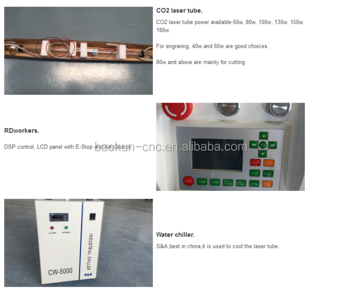 High precision rubber stamp laser engraving machine 6090 6040 1390