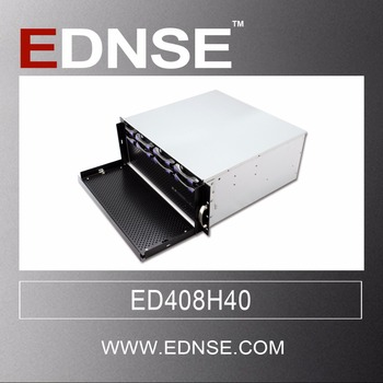 ED408H40 4u 8 bays 19 inch rack mount chassis mini server chassis