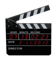 Hot Sales Fancy movie clapper led digital table clock