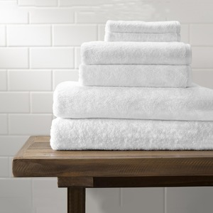 Hot sale terry wash cloth plain white thin cotton bath towels with Logo